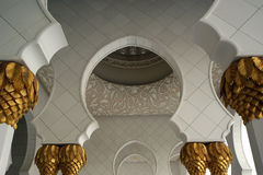 Abu Dhabi Sheikh Zayed White Mosque in UAE Royalty Free Stock Images