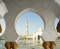 Abu Dhabi Sheikh Zayed White Mosque in UAE Royalty Free Stock Photography