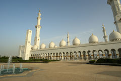 Abu Dhabi Sheikh Zayed White Mosque in UAE Stock Images