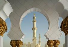 Abu Dhabi Sheikh Zayed White Mosque in UAE Royalty Free Stock Photo