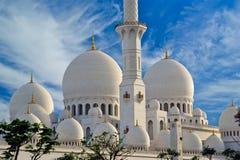 Abu Dhabi Sheikh Zayed White Mosque in UAE Royalty Free Stock Photos