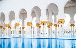 Abu Dhabi Sheikh Zayed White Mosque Royalty Free Stock Images