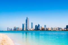 Abu Dhabi sky line and city scene Royalty Free Stock Photo