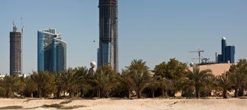 Abu Dhabi Skyline. United Arabic Emirates Stock Photography