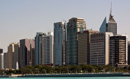 Abu Dhabi Skyline Stock Images