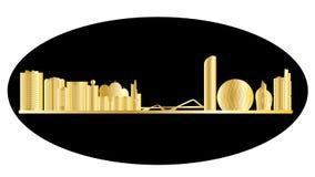 Abu Dhabi Skyline stock de ilustración