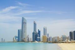 Abu Dhabi Skyline Stockfotos