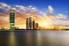 Abu Dhabi Skyline image stock