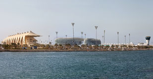 Abu Dhabi Skyline Lizenzfreie Stockfotografie