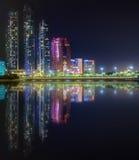 Abu Dhabi Skyline Arkivbilder
