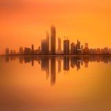 Abu Dhabi Skyline Lizenzfreie Stockbilder