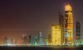 Abu Dhabi Skyline Royaltyfri Bild