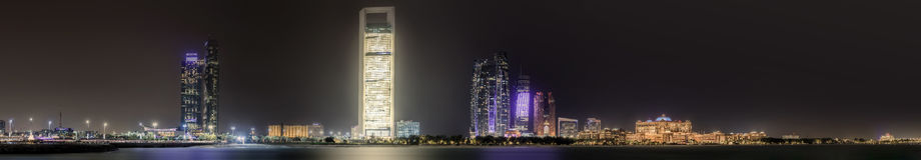 Abu Dhabi Skyline Royalty-vrije Stock Afbeelding