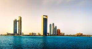 Abu Dhabi Skyline Royalty-vrije Stock Fotografie
