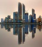 Abu Dhabi Skyline Stockfoto