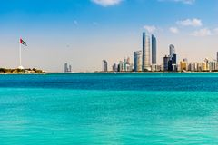 Abu Dhabi-Skyline, Arabische Emirate Lizenzfreies Stockfoto