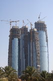 Abu Dhabi skyline building at day Stock Photo