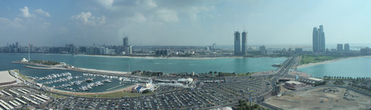 Abu Dhabi Skyline royalty free stock photo