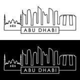 Abu Dhabi Skyline style linéaire Photo libre de droits