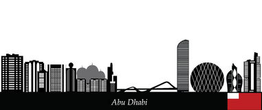 Abu dhabi skyline Royalty Free Stock Photography