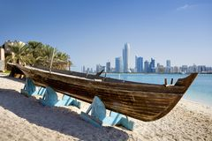 Abu Dhabi Skyline, UAE immagine stock