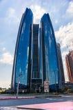 Abu Dhabi Skyline, UAE Imágenes de archivo libres de regalías