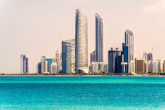 Abu Dhabi Skyline, UAE Royalty Free Stock Image