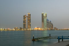Abu Dhabi skyline, United Arab Emirates Stock Photography