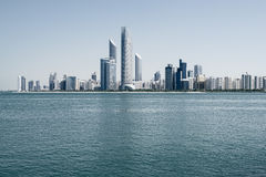 Abu Dhabi skyline, United Arab Emirates. Panoramic view of Abu Dhabi skyline, United Arab Emirates Stock Photos