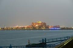 Abu Dhabi-Skyline, Vereinigte Arabische Emirate Lizenzfreies Stockfoto
