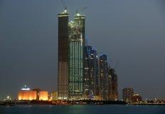 Abu Dhabi-Skyline, Vereinigte Arabische Emirate Stockbild