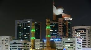 Abu Dhabi-Skyline, Vereinigte Arabische Emirate Stockfotografie