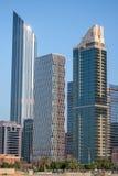 Abu Dhabi skyline vertical royalty free stock photography