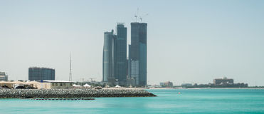 Abu Dhabi Skyline Royalty Free Stock Image