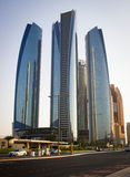 Abu Dhabi Skyscrapers Royalty Free Stock Photography
