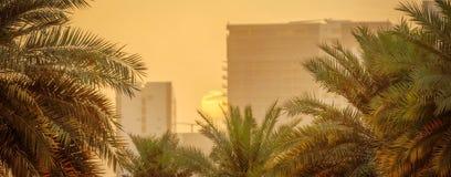 Abu Dhabi-Sonnenuntergang Stockbild