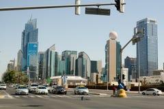 Abu Dhabi-Stadtzentrum Stockfoto
