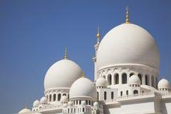 Abu Dhabi storslagen moské uae Royaltyfri Bild