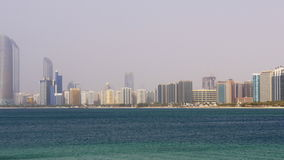Abu dhabi summer day beach bay panorama 4k uae stock footage