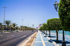 Abu Dhabi. Summer 2016. A modern green metropolis of Arab culture on the shores of the Arabian Gulf. Stock Images
