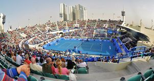 Abu Dhabi Tennis 2012 Foto de Stock Royalty Free
