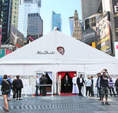 Abu Dhabi Tent in Times Square Royalty Free Stock Image
