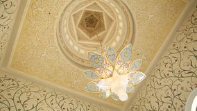 ABU DHABI, UAE - 20 AGOSTO 2014: Sheikh Zayed Mosque, Abu Dhabi, Emirati Arabi Uniti Fotografia Stock Libera da Diritti