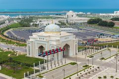 Abu Dhabi, UAE - April 4. 2019. Arch At The Entrance To Presidential Palace In The Emirate Of Abu Dhabi Stock Photos