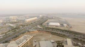 ABU DHABI, UAE - DEZEMBER 2016: Panoramablick von Yas-Insel aer Stockfotos