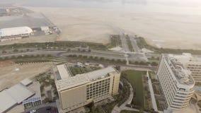 ABU DHABI, UAE - DEZEMBER 2016: Panoramablick von Yas-Insel aer Lizenzfreie Stockbilder