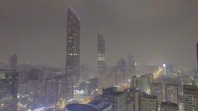 ABU DHABI, UAE - GRUDZIEŃ 2016: Powietrzny nocy miasta widok Abu Dhab Fotografia Stock
