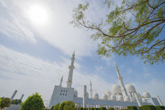 ABU DHABI, UAE -19 IM MÄRZ 2016: Sheikh Zayed Grand Mosque in Abu Dhabi, Vereinigte Arabische Emirate Lizenzfreie Stockfotos