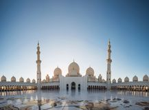 Abu Dhabi, UAE am 4. Januar 2018 Sheikh Zayed Grand Mosque in Abu Dhabi Stockfoto