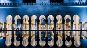 Abu Dhabi, UAE am 4. Januar 2018 Sheikh Zayed Grand Mosque in Abu Dhabi Stockbild